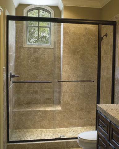 1 Signature  Frameless Bypass Shower Enclosure